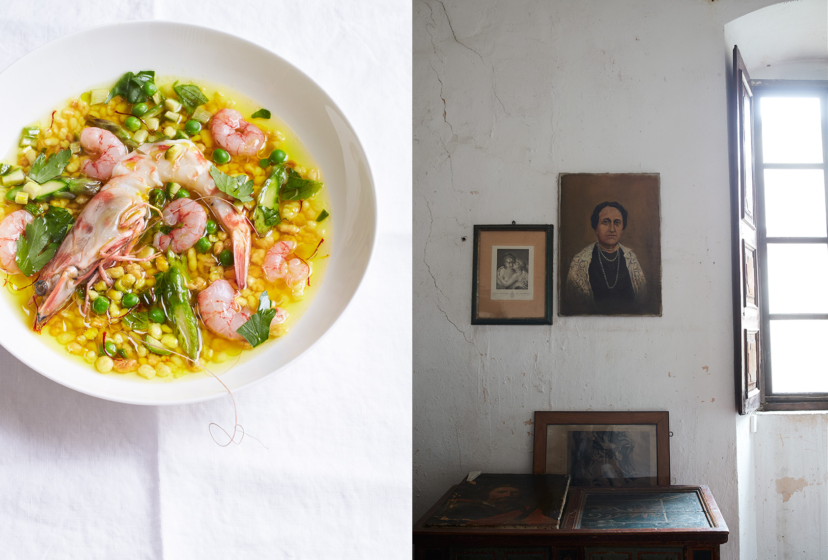 Autentico: Shrimp, Fregola Sarda, and The Matriarch