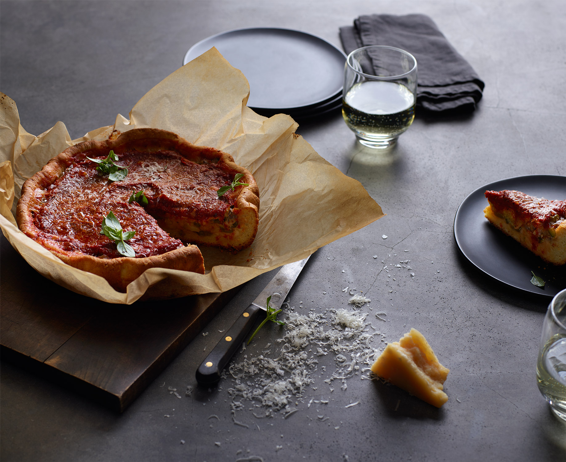 Food: Deep Dish Pizza