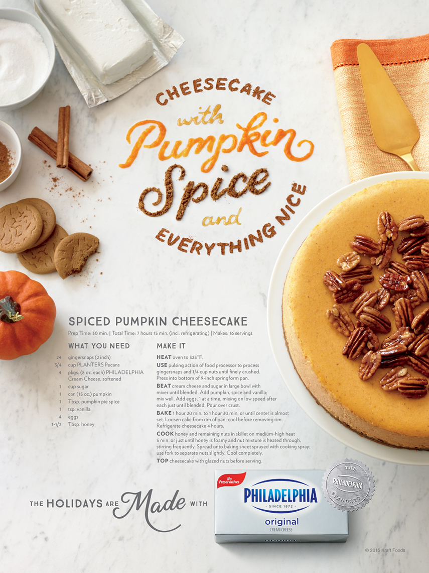 Advertising: Philadelphia Cream Cheese, Pumpkin Spice