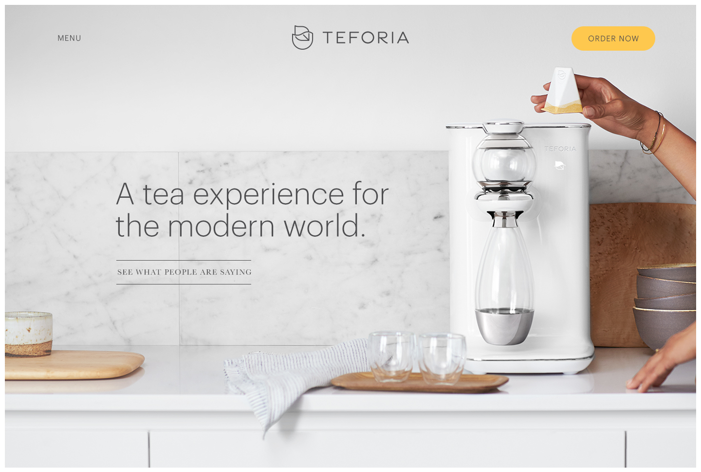 Advertising: Teforia, Art and Science of Tea