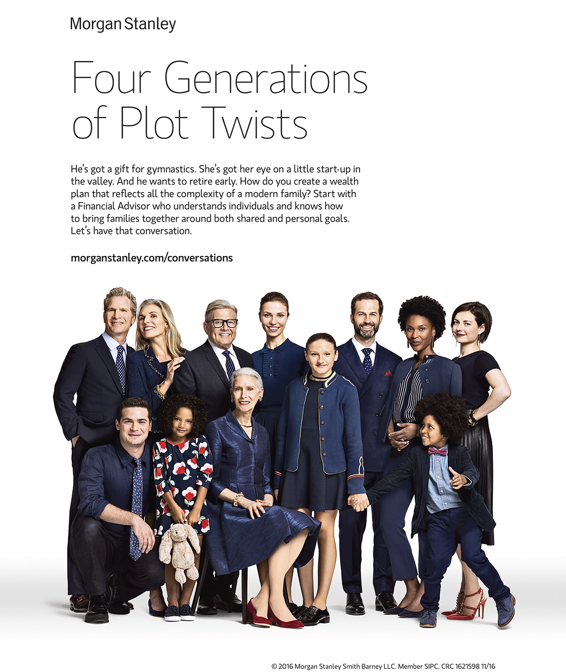 Advertising: Morgan Stanley, Family Portrait