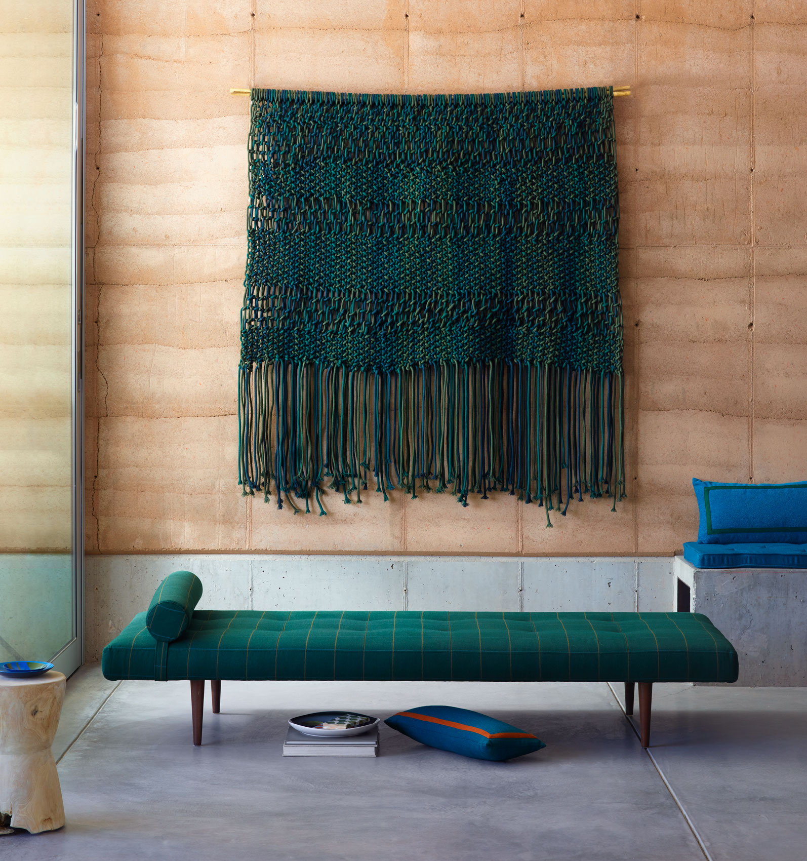 Spaces: Bench and Macrame